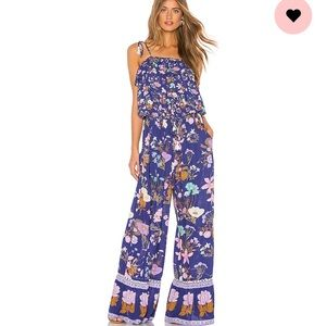 Spell & the gypsy wild bloom jumpsuit navy M